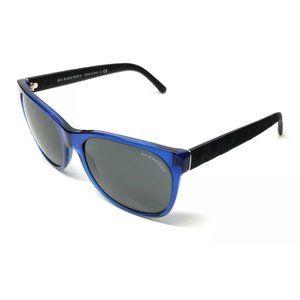 Burberry Men's Blue and Black Sqaure Sunglasses!